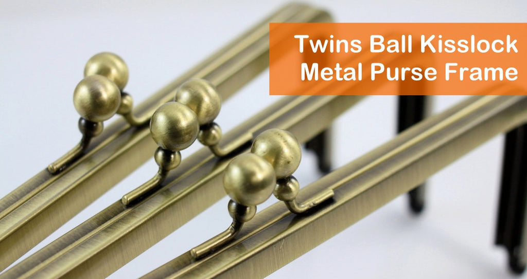 Twins ball kisslock Clutch Frame, bronze kisslock clutch frame, metal purse frame supplier