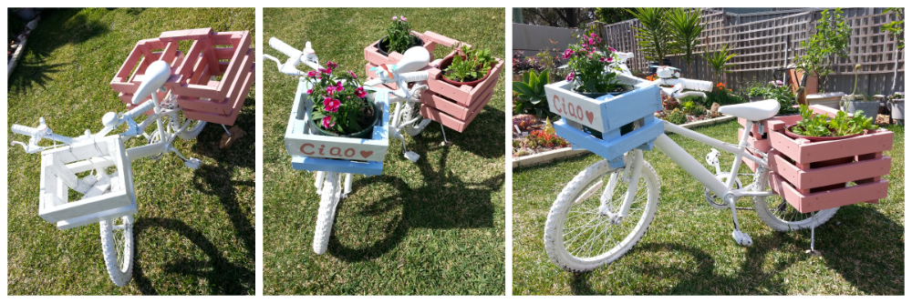 Gardening design, Garden Decor, Beautiful Garden, from trash to treasure, bicycle garden, floral bicycle, Garden DIY
