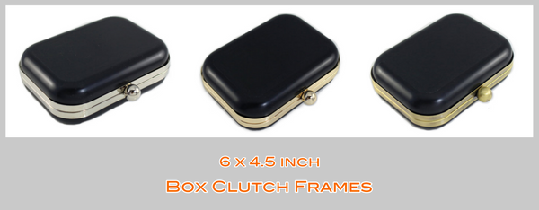 6 inch box clutch, medium box clutch, Metal box clutch Frame, Clamshell MINAUDIÈRE Clutch frame