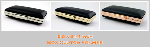 6.5 inch box clutch frame, iPhone hard case, medium box clutch frame, Clamshell MINAUDIÈRE Clutch frame