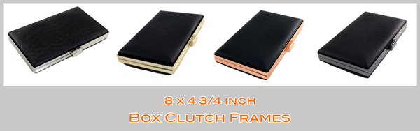 8 inch Clamshell MINAUDIÈRE box Clutch frame, iPhone box clutch, iPhone hard case, large box metal frame