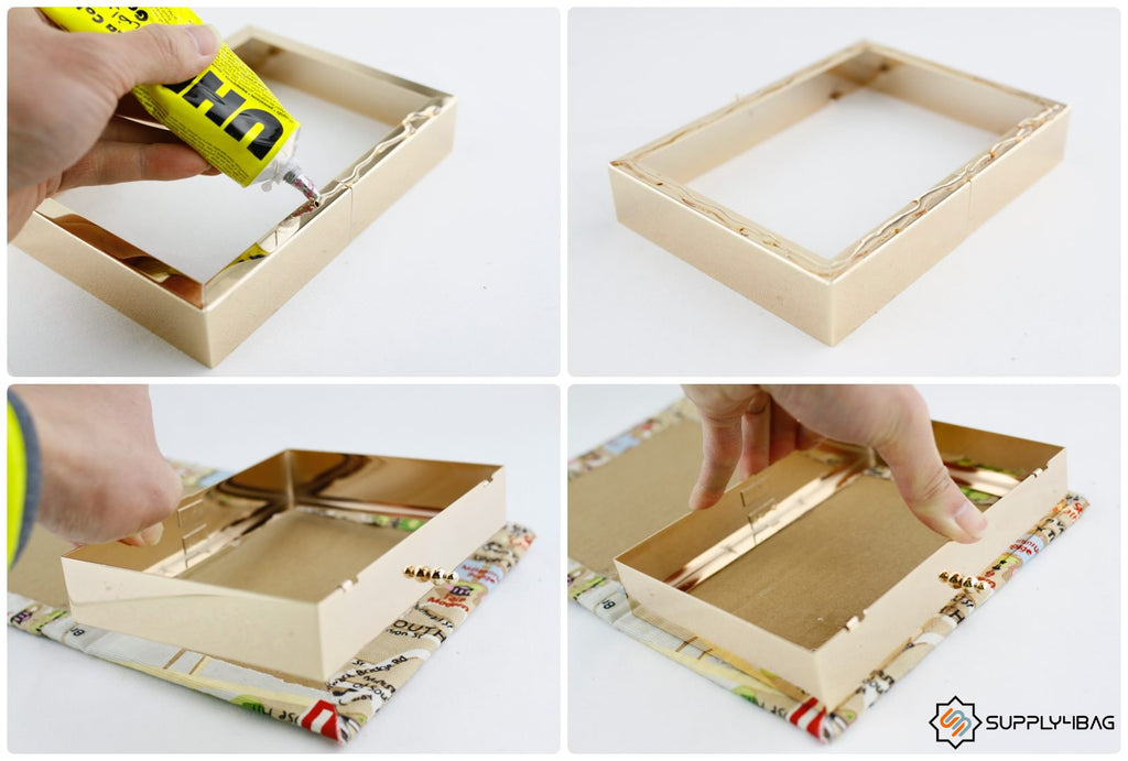 How to Make a Book Clutch with Metal Frame