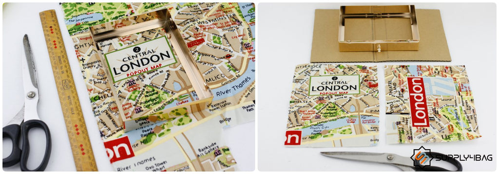 London Map Book Clutch DIY