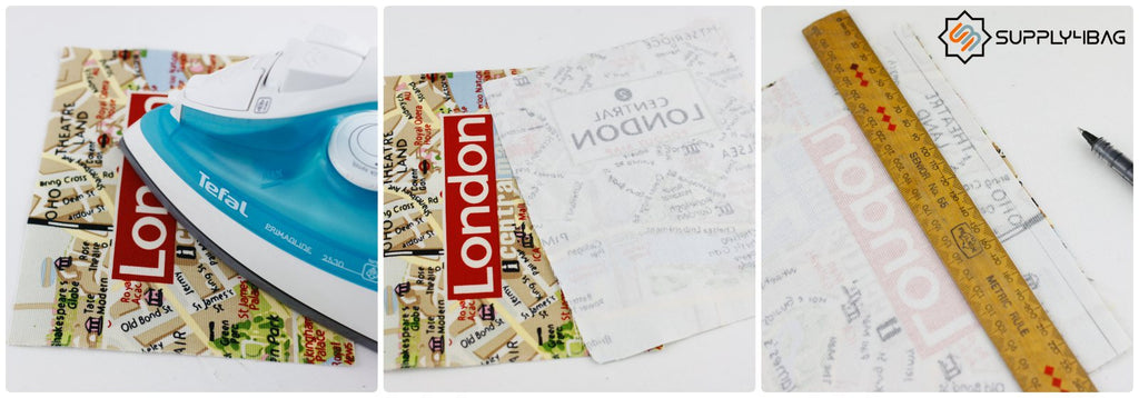London Map Fabric for Book Clutch DIY
