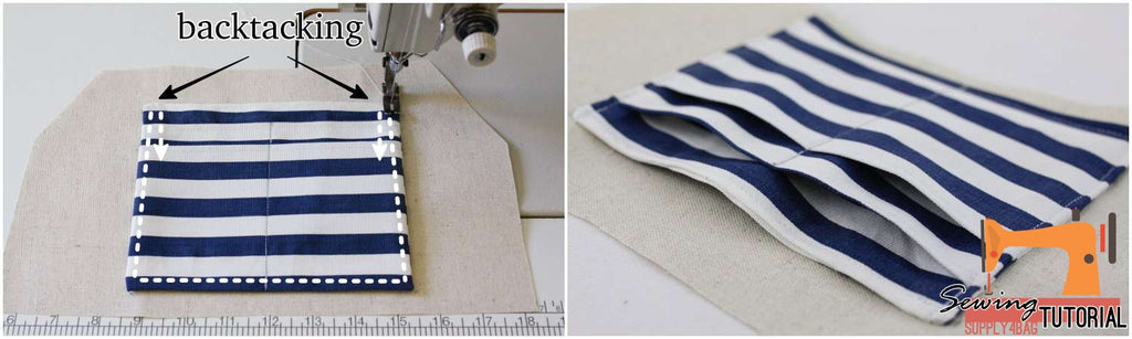 Sewing Tutorial for Slip Pocket with Card Holders