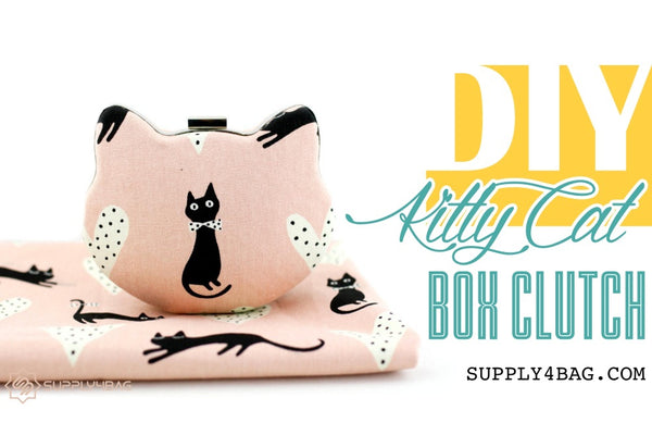 DIY Kitty Cat Box Clutch Free Tutorial