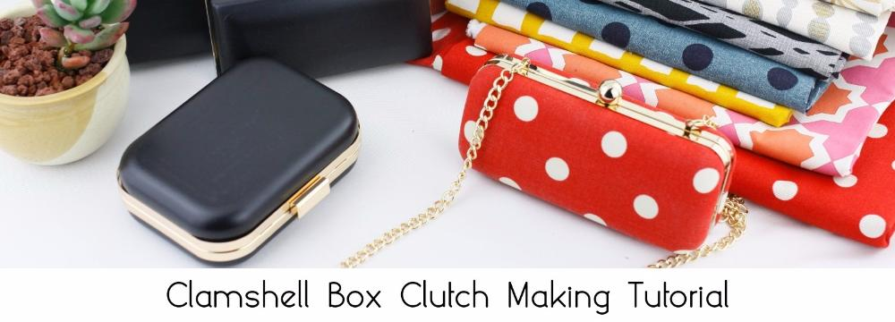 clamshell box clutch making tutorial, free tutorial for box clutch making, how to make box clutch