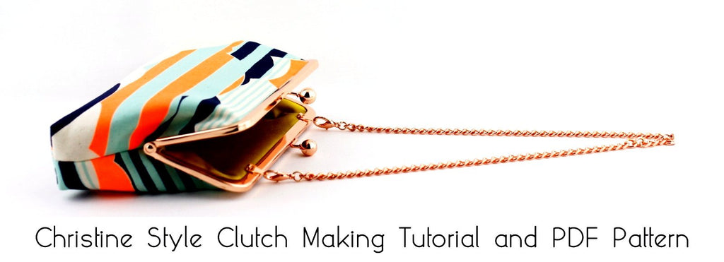 clutch making tutorial and PDF Pattern, how to make a frame clutch purse