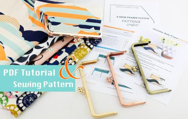 Christine style frame clutch making tutorial and pattern