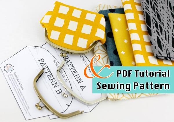 clutch purse making tutorial and PDF pattern