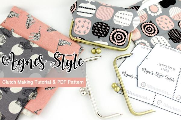 Agnes Style Frame Clutch Tutorial & PDF Pattern