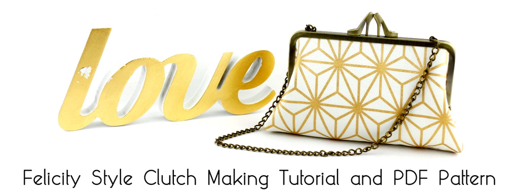 How to make your own style frame clutch tutorial and PDF pattern