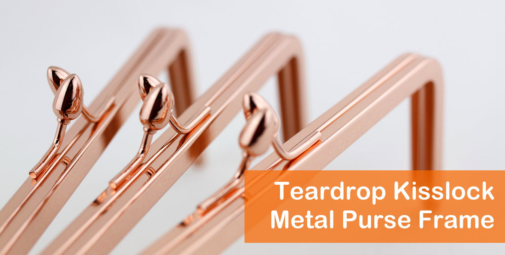 Teardrop Kisslock Clutch Frame, metal purse frame, supply for clutch making, handmade business supplier