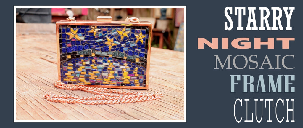 Starry Night Mosaic Frame Clutch | SUPPLY4BAG