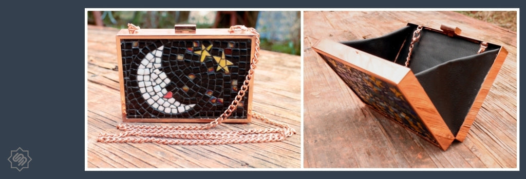 Mosaic Minaudiere Frame Clutch Made by Frederic Lecut | SUPPLY4BAG