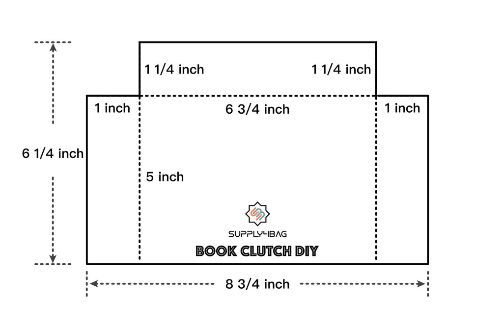 Template for Book Clutch Making