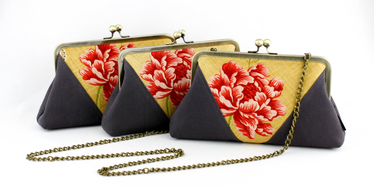 Retro Stylish Floral Frame Clutches | SUPPLY4BAG