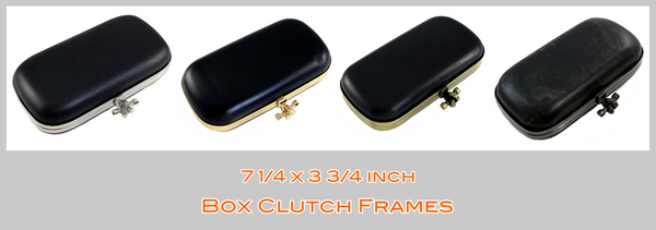 Knot Clasp Box Clutch Frame, Box Clutch, Large Metal Clutch Frame, Knot closure Clutch