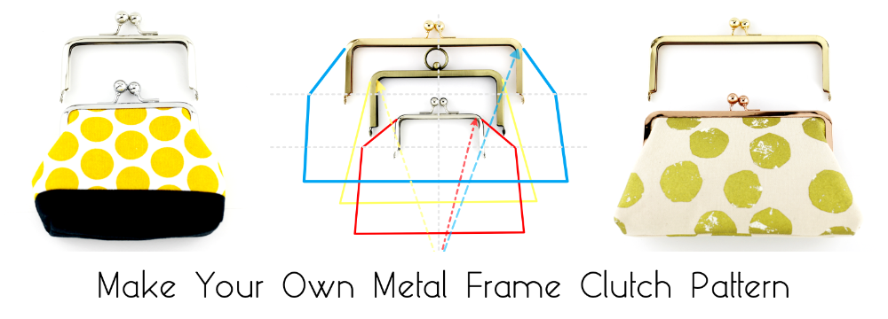how to make your own frame clutch pattern, metal clutch pattern, clasp purse pattern
