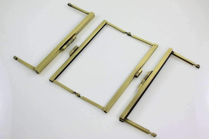6 3/4 x 2.5 inch - Modern - Antique Brass Open Channel Purse Frame | SUPPLY4BAG