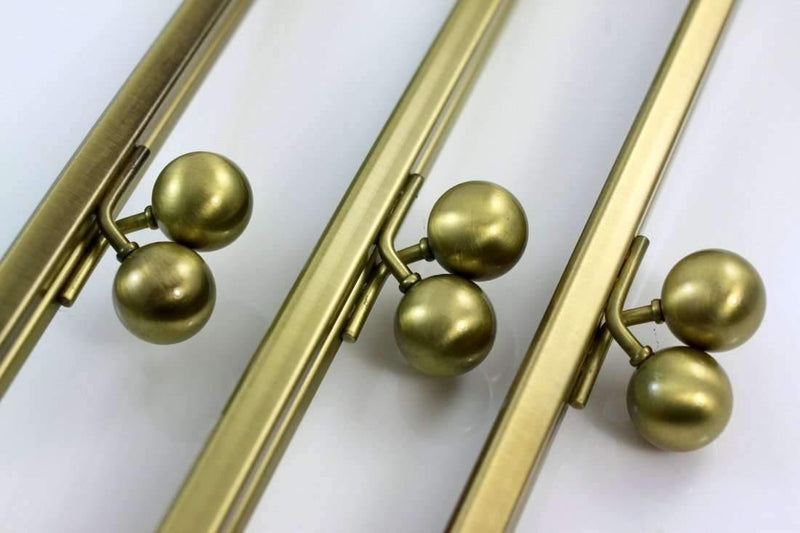 12 x 4.5 inch - Ball Closure - Antique Brass Super Large Clutch Frame | SUPPLY4BAG