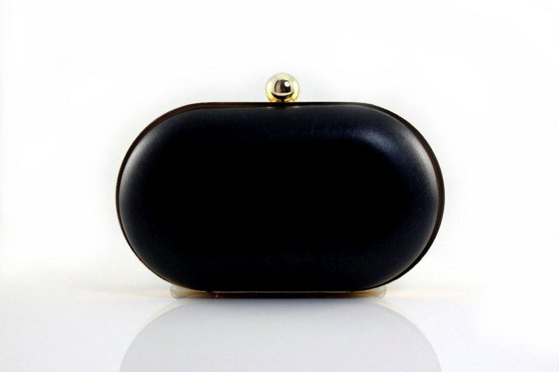6 1/4 x 3.5 inch - Single Ball - Gold Rounded Edge Shape Clamshell Clutch Frame | SUPPLY4BAG
