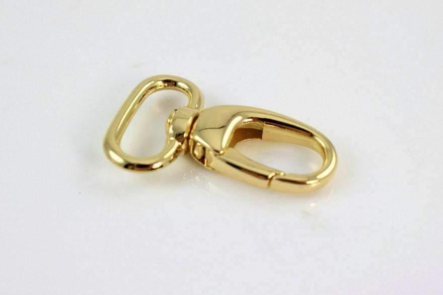 Gold Lobster Swivel Hooks - 3/4 inch (2cm) inside wide - 10 pieces | SUPPLY4BAG