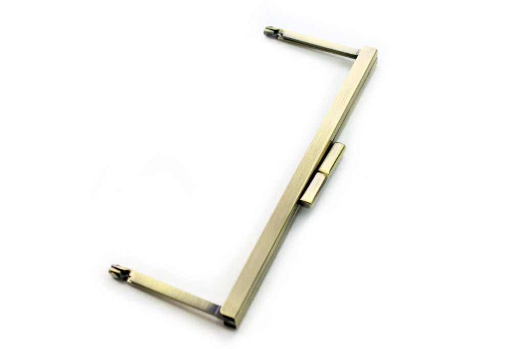 6 3/4 x 2.5 inch - Little Flat - Antique Brass Open Channel Purse Frame | SUPPLY4BAG