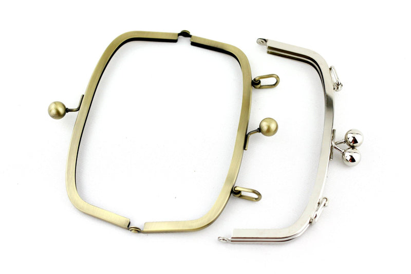 7 3/4 x 3 inch - Antique Brass Arch Shape Clutch Frame with Loops on Top | SUPPLY4BAG