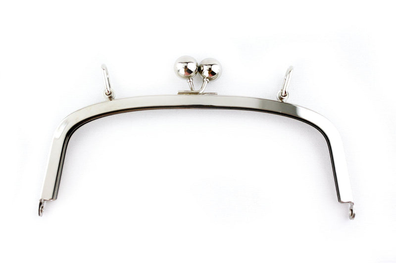 7 3/4 x 3 inch - Silver Arch Shape Clutch Frame with Loops on Top | SUPPLY4BAG