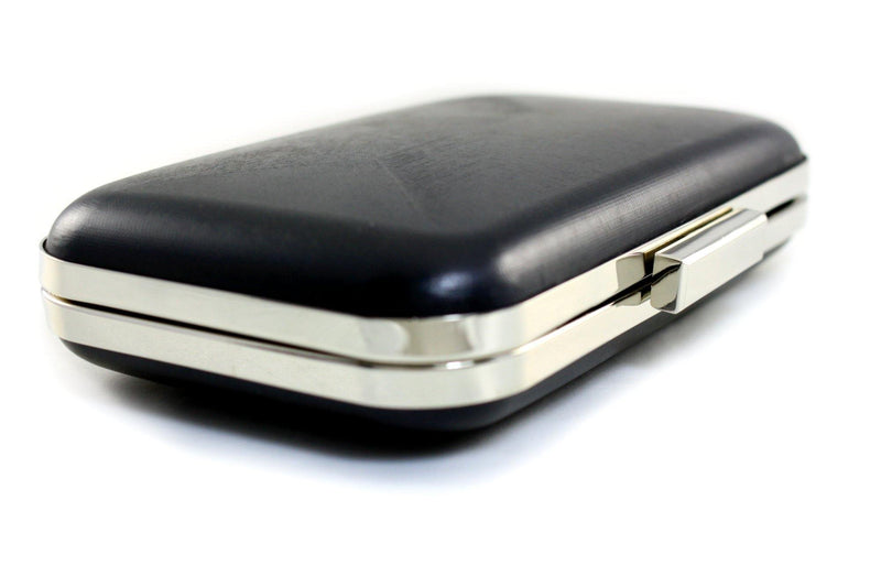 7 3/4 x 4.5 inch - Square Closure - Silver Rectangle Minaudière Clutch Frame | SUPPLY4BAG