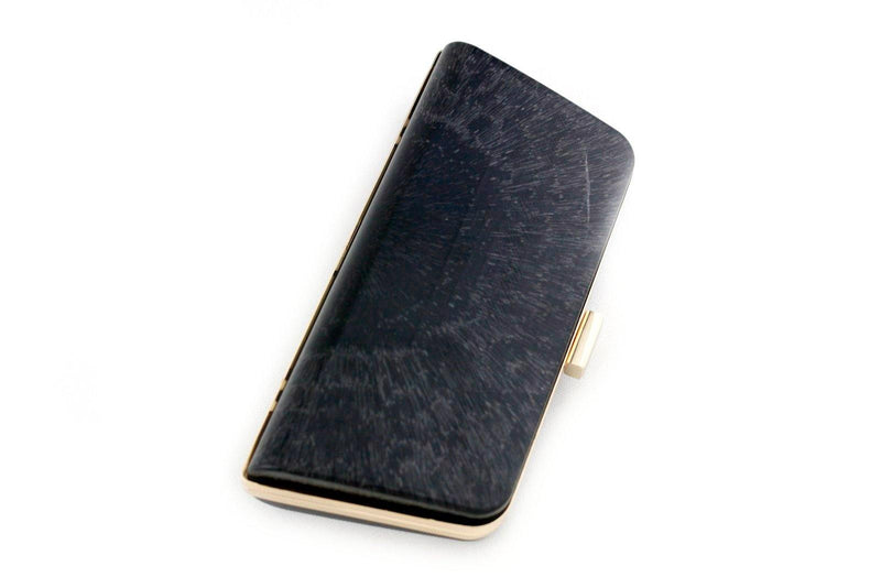 8 1/4 x 4 inch - Trapezoidal Shape Gold Minaudière Clamshell Clutch Frame | SUPPLY4BAG