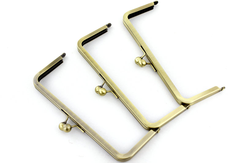 8 x 3 inch - Antique Brass Metal Purse Frame | SUPPLY4BAG