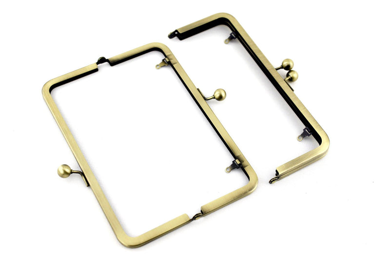 8 Inch Antique Brass Metal Purse Frame For Clutch Making