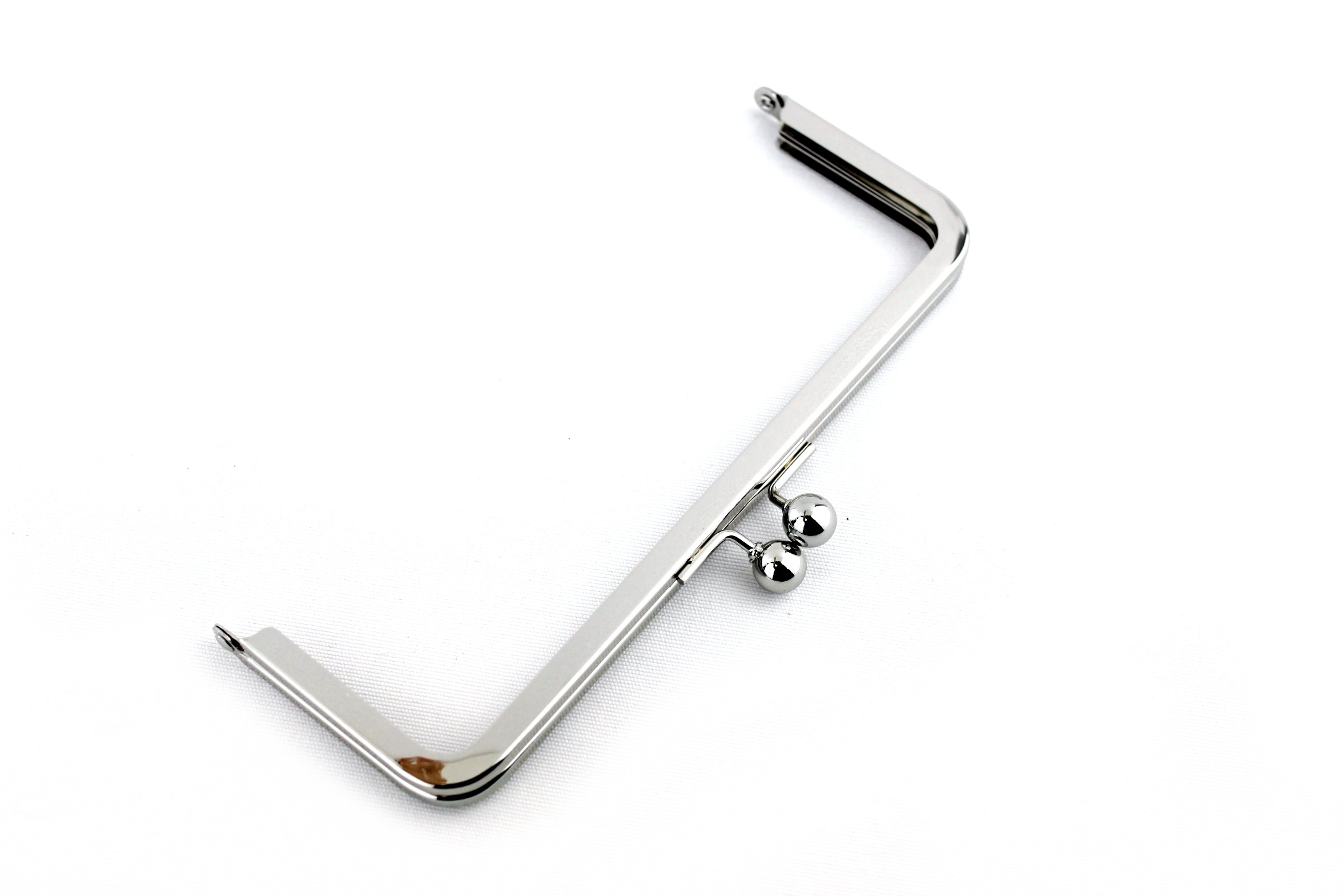 kiss lock  frame clip frame purse clasp clutch metal purse frame with pearl bead with handle 4 color 20cm 8 inch