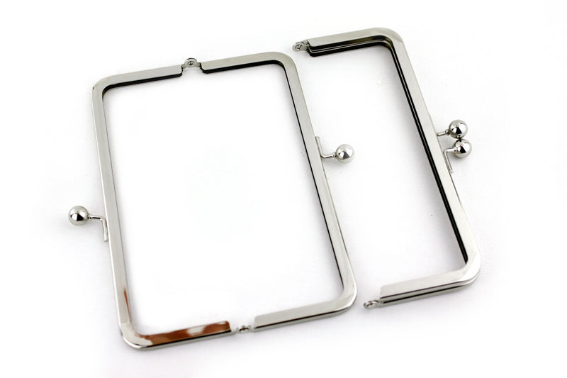 8 x 3 inch - Silver Metal Clutch Frame | SUPPLY4BAG