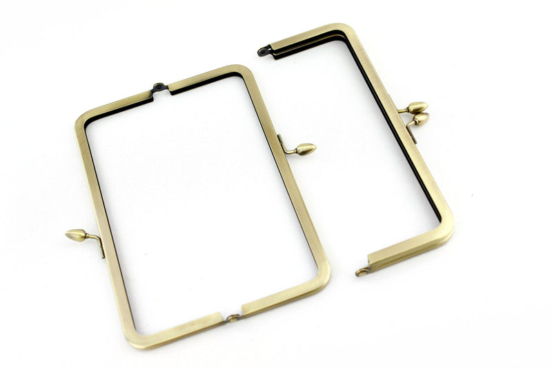 8 x 3 inch - Teardrop Closure - Antique Brass Metal Clutch Frame | SUPPLY4BAG