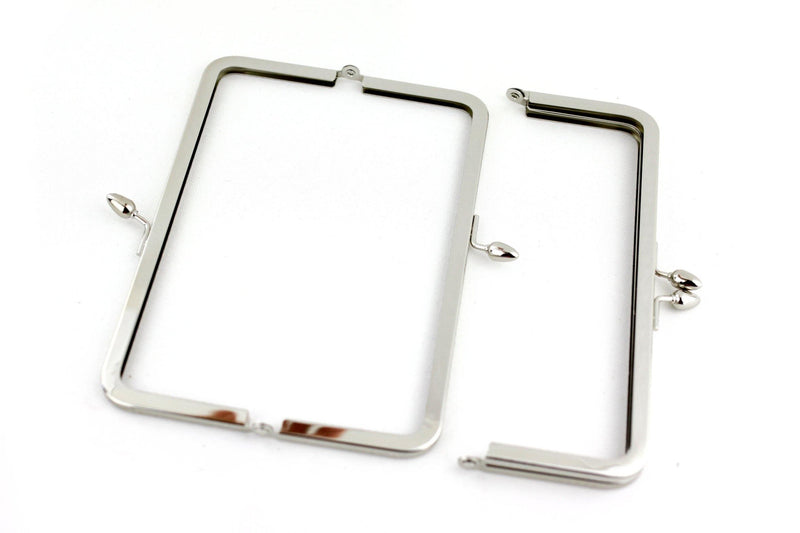 8 x 3 inch - Teardrop Closure - Silver Metal Clutch Frame | SUPPLY4BAG