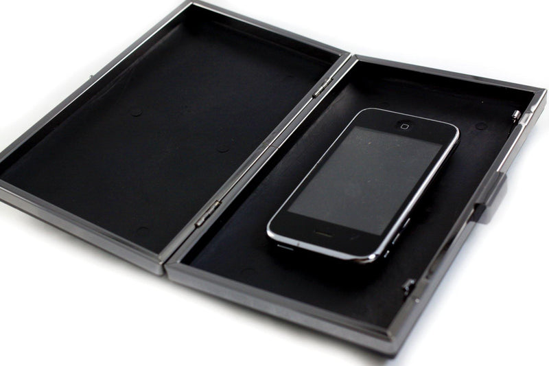 8 x 4 3/4 inch - Gunmetal Rectangle Dressing Case Metal Clutch Frame with Covers | SUPPLY4BAG