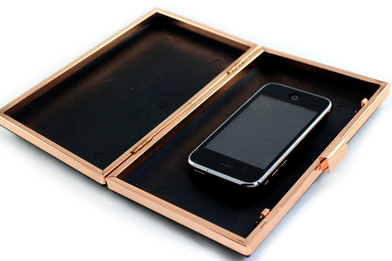 8 x 4 3/4 inch - Rose Gold Rectangle Dressing Case Metal Clutch Frame | SUPPLY4BAG