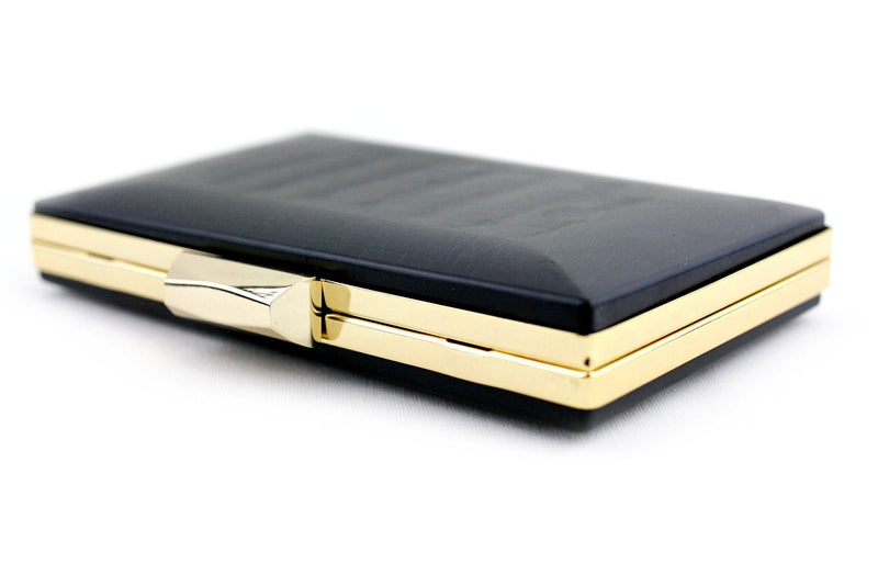 8 Inch Gold Rectangle Minaudiere Clamshell Clutch Frame