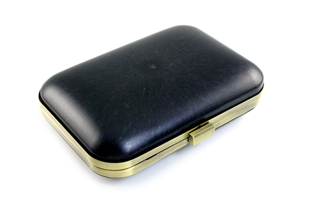 8 x 5.5 inch - Antique Brass Metal Minaudiere Clamshell Clutch Frame | SUPPLY4BAG