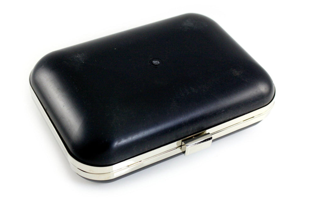 8 x 5.5 inch - Silver Metal Minaudiere Clamshell Clutch Frame | SUPPLY4BAG