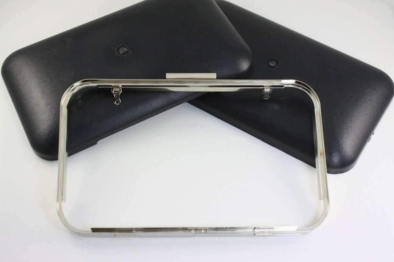 11 x 7 inch - Super Large Silver Clamshell Clutch Box Frame | SUPPLY4BAG