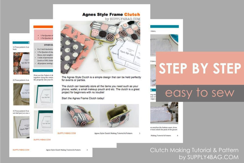 Agnes Frame Clutch Making Tutorial & PDF Pattern | SUPPLY4BAG