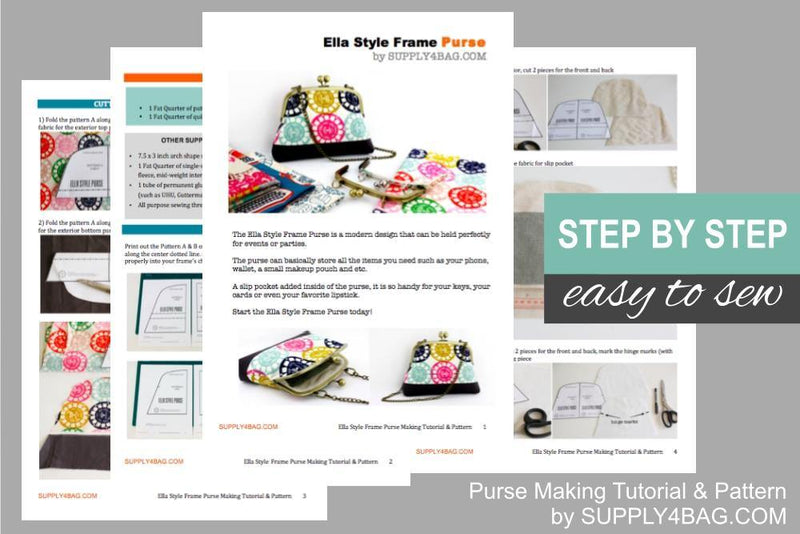 Ella Frame Purse Making Tutorial & PDF Pattern | SUPPLY4BAG
