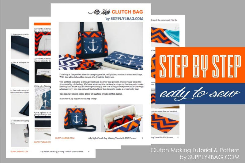 Ally Clutch Bag Making Tutorial & PDF Pattern | SUPPLY4BAG