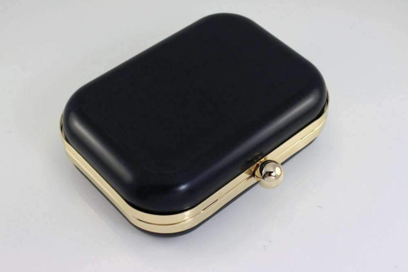 6 x 4.5 inch - Single Ball - Gold Minaudière Metal Clutch Frame | SUPPLY4BAG