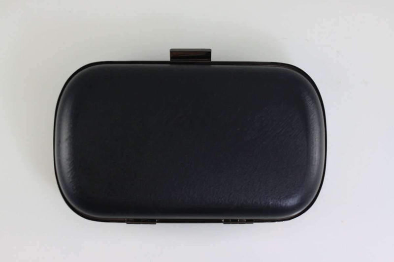 6.5 x 3 3/4 inch - Gunmetal Rounded Edge Shape Minaudière Clutch Frame | SUPPLY4BAG