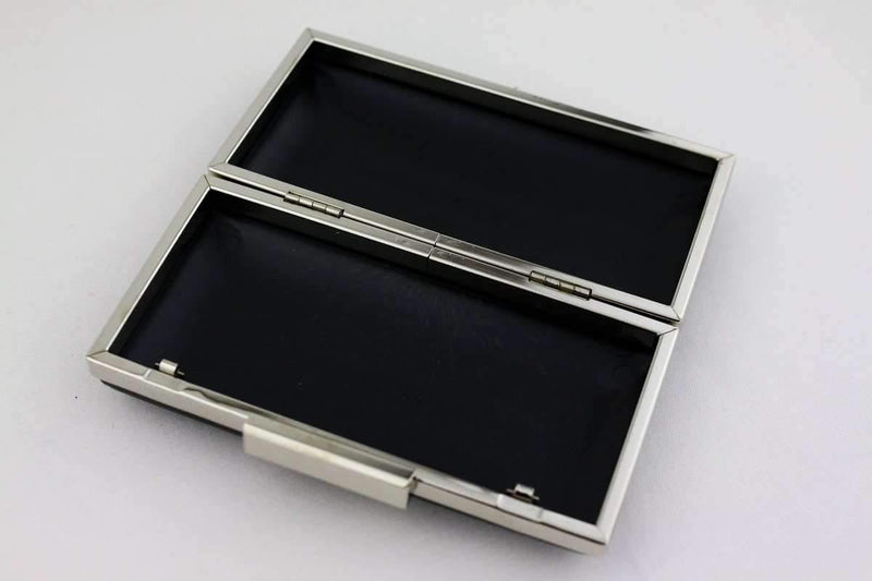 6.5 x 3 1/4 inch - Square Clasp - Silver Rectangle Clutch Frame with Covers | SUPPLY4BAG